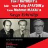 Fakir Baykurt, Talip Apaydın, Mahmut Makal Anılıyor