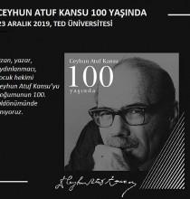 Ceyhun Atuf Kansu 100 Yaşında Etkinlikleri